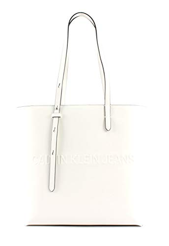 Calvin Klein Box N/s Tote W/Zipper - Borse Donna, Bianco...