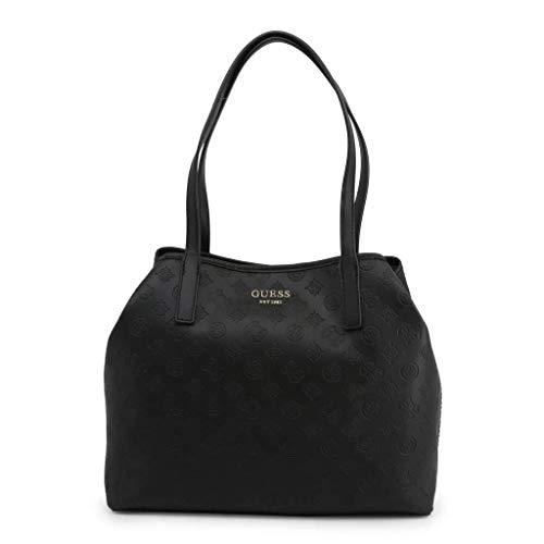 Guess Vikky Tote, Bags Flap Donna, Black, Taglia Unica