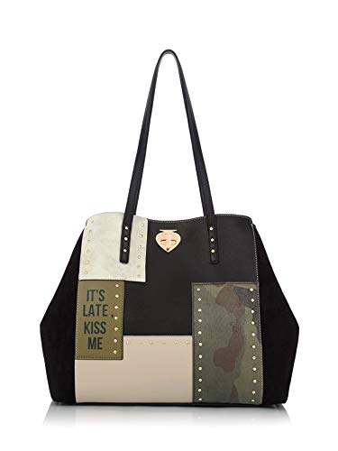 LE PANDORINE Patch Bag KISS Black