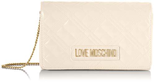 Love Moschino JC4261PP0BKA0, Borsa A Spalla Donna, Bianco Sporco,...