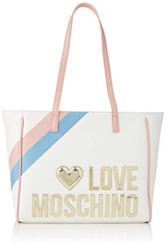 Love Moschino Jc4288pp0a, Borsa a Spalla Donna, Multicolore (White...