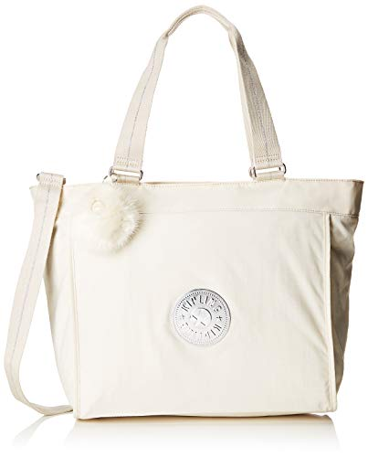 Kipling New Shopper L - Borse Tote Donna, Bianco (Dazz White)