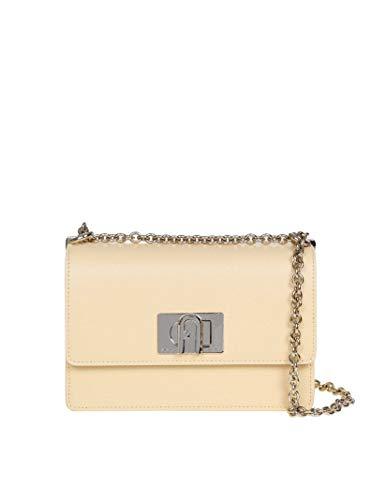 FURLA Luxury Fashion Donna 1056935 Giallo Pelle Borsa A Spalla |...