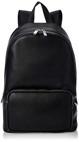 Calvin Klein Punched Round Backpack - Borse a spalla Uomo, Nero...