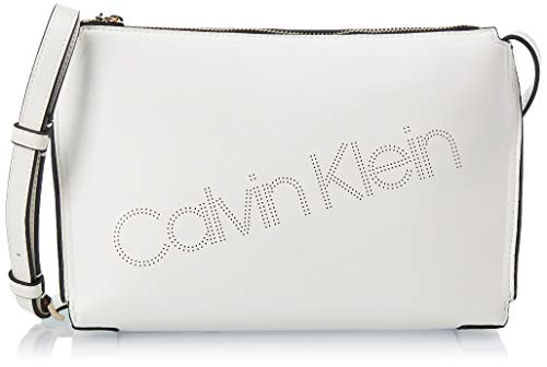 Calvin Klein Punched Ew Xbody - Borse a tracolla Donna, Bianco...