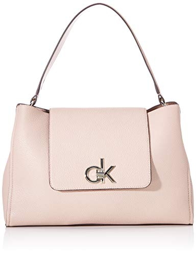 Calvin Klein Re-lock Top Handle Satchel - Borse a tracolla Donna, Rosa...