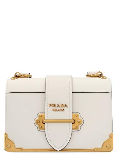 Prada Luxury Fashion Donna 1BD045VXCH2BB0F0009 Bianco Pelle Borsa A...