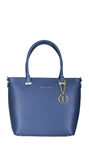 Borsa shopper Trussardi Jeans levanto blu Primavera Estate 2017 -...