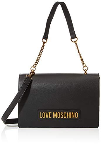 Love Moschino Borsa Smooth PU, Donna, Nero, Normale