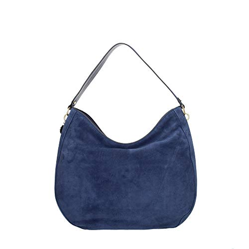 Coccinelle Alpha Suede Shoulderbag L Ink