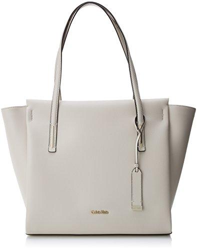 Calvin Klein Frame Large Shopper - Borse Tote Donna, Bianco (Cement),...