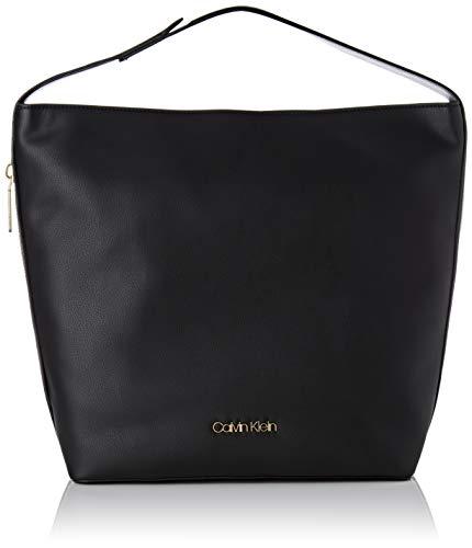 Calvin Klein Jeans Drive Hobo, Borse a spalla Donna, Nero (Black), 15...