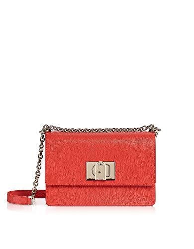 FURLA Luxury Fashion Donna 1056934 Rosso Pelle Borsa A Spalla |...