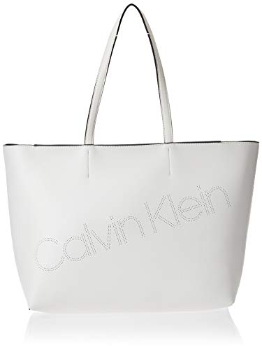 Calvin Klein Ck Must Psp20 Med Shopper P - Borse Tote Donna, Bianco...