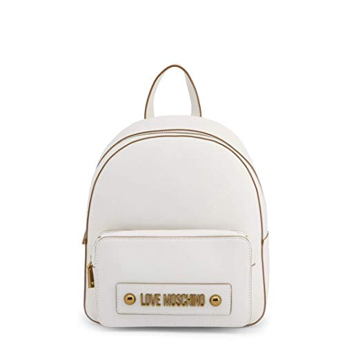 Love Moschino Zaino in PVC Colore Bianco con Tasca Esterna JC4028PP