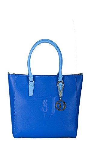 Borsa shopping Trussardi Jeans ischia bluette Primavera Estate 2017...