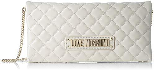 Love Moschino Borsa Quilted Nappa Pu, Tracolla Donna, Bianco (Avorio),...