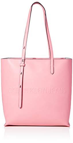 Calvin Klein Box N/s Tote W/Zipper - Borse Donna, Rosa (Pop...