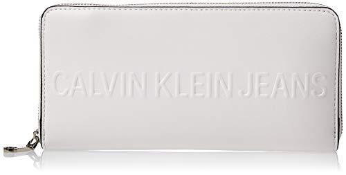 Calvin Klein Box Large Ziparound - Pochette da giorno Donna, Bianco...