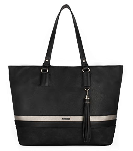 David Jones - Borsa a Spalla Tote Shopper Grande Capacità Donna -...