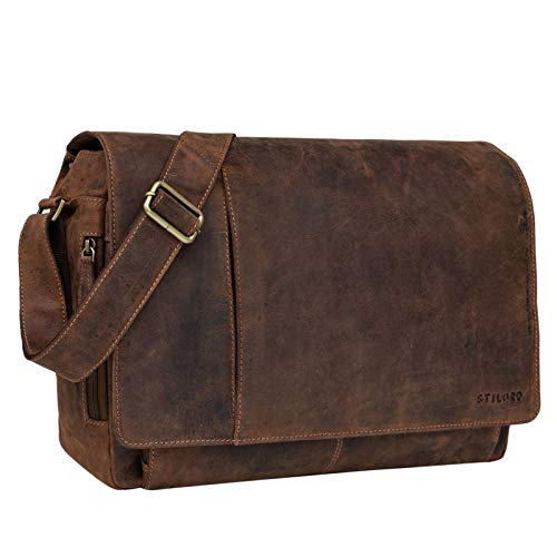 STILORD 'Elias' Borsa a tracolla in pelle Messenger in cuoio vintage...