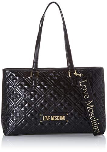 Love Moschino Jc4001pp1a, Borsa Tote Donna, Nero (Nero), 11x25x39 cm...