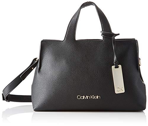 Calvin Klein Neat F19 Med Tote - Borse a tracolla Donna, Nero (Black),...