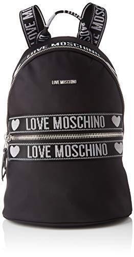Love Moschino Jc4282pp0a, Zaino Donna, Nero (Black Nylon), 14x27x38 cm...
