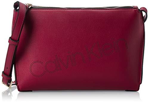 Calvin Klein Punched Ew Xbody - Borse a tracolla Donna, Rosso (Tibetan...