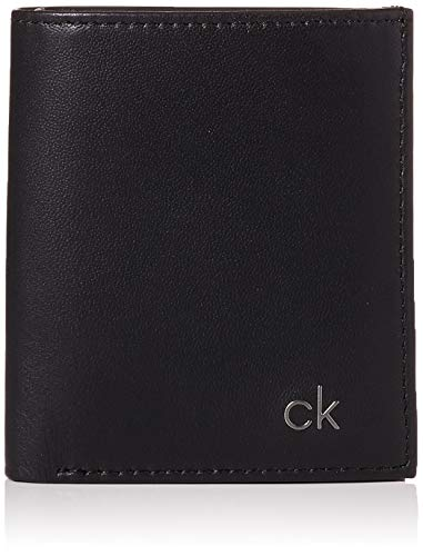 Calvin Klein Smooth Ck Mini Ns 6 Cc Coin Pass - Portamonete Uomo, Nero...