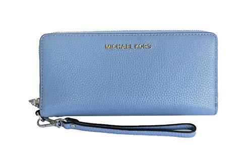 Michael Kors Jet Set Travel Continental Zip Around Leather Wallet...