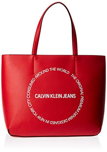 Calvin Klein Sculpted Ew Tote 29 - Borse Donna, Rosso (Racing Red),...