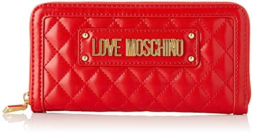 Love Moschino Quilted Nappa Pu, Portafoglio Donna, (Rosso), 15x10x15...