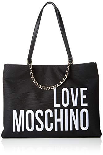 Love Moschino Canvas, Borsa Tote Donna, (Nero), 29x39x12 cm (W x H x...