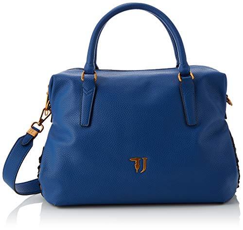 Trussardi Jeans Lavanda Satchel Bag, Borsa a Mano Donna, Blu...
