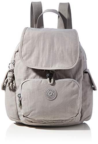 Kipling City Pack Mini, Backpacks Donna, Grigio, 14x27x29 cm