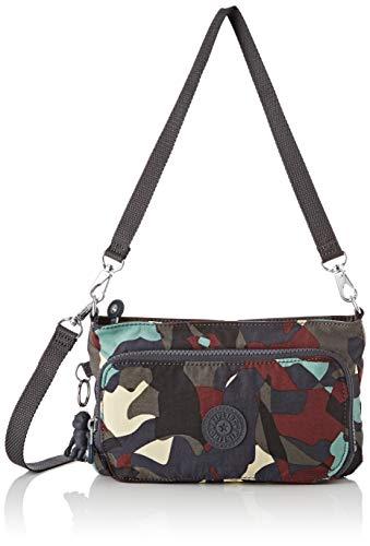 Kipling Myrte - Borse a tracolla Donna, Multicolore (Camo Large),...