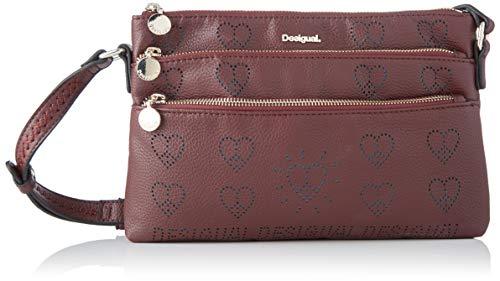 Desigual Bag True Love Durban, Borsa a Cartella Donna, Rosso (Ruby...