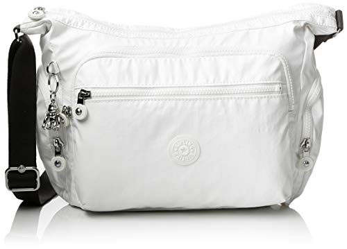 Kipling Gabbie S, Borsa a Tracolla Donna, Bianco (White Metallic),...