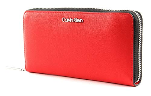Calvin Klein Ck Must Large Ziparound - Borse a tracolla Donna, Rosso...