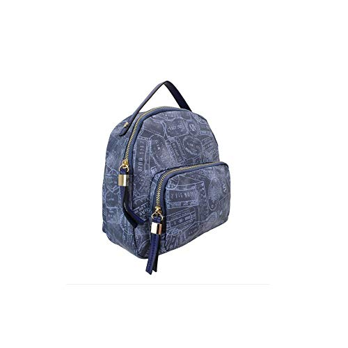 ALVIERO MARTINI ALV by Borsa zaino stampa Passport AL929B0503 (DENIM)