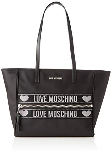Love Moschino Jc4275pp0a, Borsa Tote Donna, Nero (Black), 12x27x40 cm...
