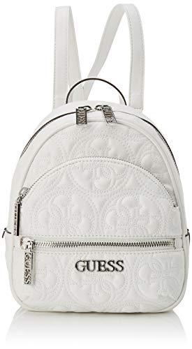 Guess Manhattan Small Backpack Borsa a Zainetto da Donna, Bianco,...