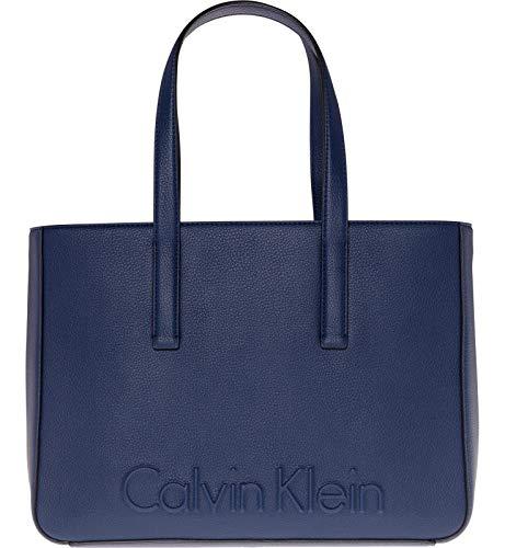 Calvin Klein Edge Medium Shopper Borsa Navy