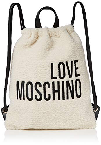 Love Moschino Borsa Eco Shearling e Pu, Zainetto Donna, Avorio...