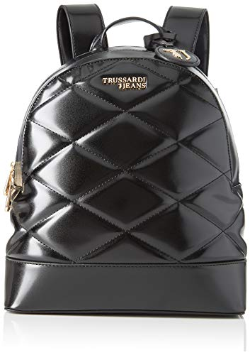 Trussardi Jeans T-Easy City Quilt Backpack MD, Zaino Donna, Nero...
