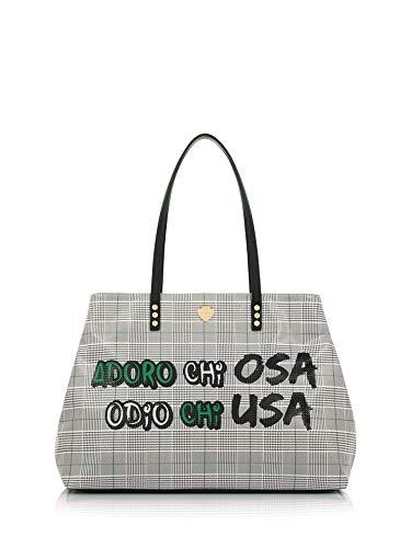 LE PANDORINE Borsa Donna Shopping Adoro AI19DAG0238603-Green Tartan