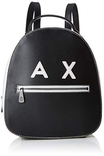 ARMANI EXCHANGE Smile Logo Backpack - Zaini Donna, Nero (Black/White),...