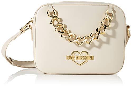 Love Moschino Jc4253pp0a, Borsa a Spalla Donna, Avorio (Ivory),...