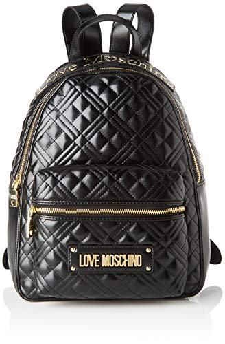 Love Moschino Jc4204pp0a, Zaino Donna, Nero (Black Quilted), 13x33x27...